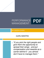 Performance Management Siddhi Shah