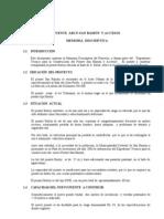 PUENTE  ARCO SAN RAMÓN  Y ACCESOS MEMORIA Descriptiva