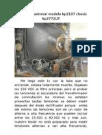 Falla en tv admiral modelo kp2107 chasis kp2771UY.doc