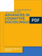 Advances in Cognitive Sociolinguistics. Dirk Geeraerts [de Gruyter Mouton, 2010]