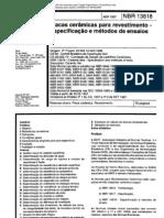 nbr 13818 - placas ceramicas para revestimento - especificacao e metodos de ensaios.pdf