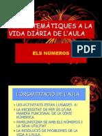 LES MATEMÀTIQUES A LA VIDA DIÀRIA DE L'AULA POWER POINT