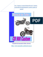 Manual de Taller Honda Cb 900 Custom