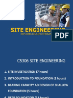 Topic 1 Site Investigation PDF