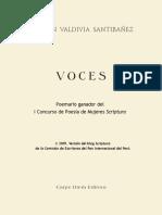VOCES Poemario Premio Scriptura-Blog