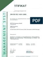 Purmo Zertifikat DIN EN ISO 14001