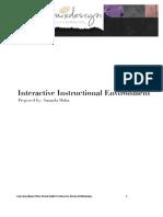 Interactive Instructional Environment