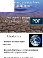 Physical and Technological Limits to Adaptation.