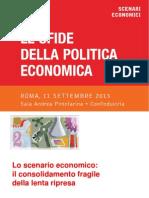 Le Sfide Della Politica Economica - Confindustria