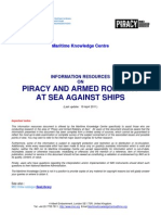 Information Resources on Piracy and Armed Robbery Against Ships