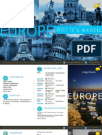 13 Nights Europe Tour Package Itenary