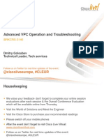 BRKCRS-3146 - Advanced VPC Operation and Troubleshooting