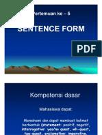 Sentence Form