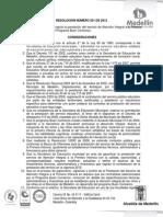 RESOLUCIÓN NÚMERO 501 DE 2012