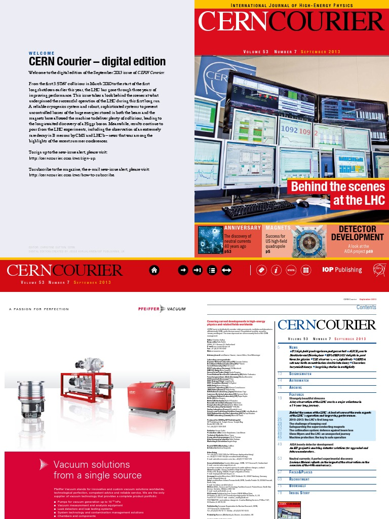 Cern Courier September 203 Large Hadron Collider Atlas Experiment Gif Circuit Amplifier Circuits Audio Orin Induction Cooker