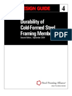 Design Guide for Durability of Cold Formed Steel Framing Members