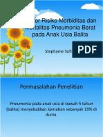 Faktor Risiko Morbiditas Dan Mortalitas Pneumonia Berat Pada