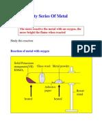 9 Reactivity Series of Metals