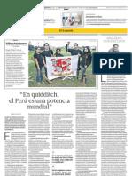 En quidditch el Perú es una potencia mundial