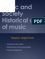 Features and Characteristics - Historical aspects of music