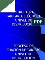 Estructura tarifaria eléct a nivel de distrib