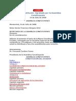 Constitucion 2008