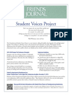 Friends Journal Student Voices Project Flyer