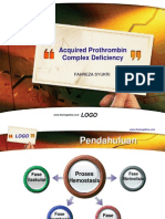 Acquired Prothrombin Complex Deficiency