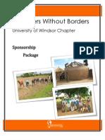 EWB Windsor Sponsorship Package 2012