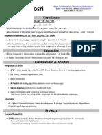 Ahmed Yosri's CV