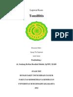 Laporan Kasus Tonsillitis 1