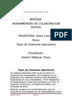 TIpos de Sistemas Operativos(Herramientas de Colaboracion Digital)