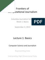 Computational Journalism at Columbia, Fall 2013