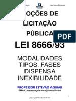 NOÇÕES DE LICITAÇÃO PÚBLICA_AULA_Prof.EstevãoAguiar