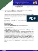 Memorandum 009-1314 the 2013 Xavier Ruby Olympics Guidelines