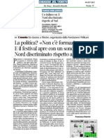 Festival Della Politica - Rassegna Stampa 5 Settembre