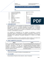 Silabo Logico Matematico II Inicial 2013-II