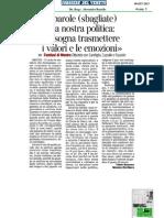 Festival Della Politica - Rassegna Stampa 8 Settembre
