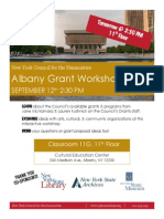 Albany Grant Workshop Flier 091213