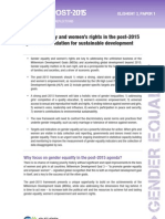 Gender equality and women's rights in the post-2015 agenda- A foundation for sustainable development