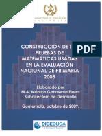 2008 Primaria Matematicas-Tablas de Especificaciones