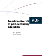Trends in Diversification in Post Secondary Education