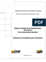 Reporte Global Competitividad 2013 Colombia