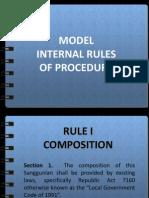 MODEL - Internal Rules for Sanggunian