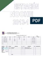 Horario Adm Noche 2013 1