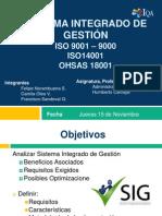 G101-Sistema Integrado de Gestión - ISO 9001 -ISO14001 - OHSAS18001