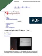 sgentrepreneurs on unConference'09