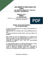 Tema i Las Obligaciones (Uapa Santiago de Los Caballeros)