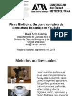 Física Biológica. Un curso completo de Licenciatura disponible en YouTube