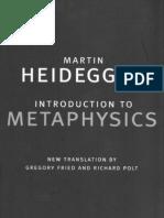 Martin Heidegger-Introduction to Metaphysics (Yale Nota Bene) (2000)